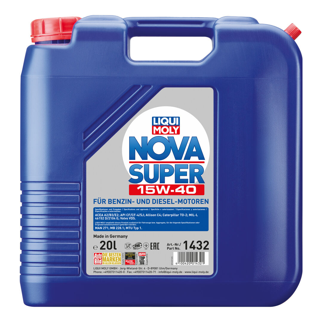 nova super 15w 40 liqui moly. Black Bedroom Furniture Sets. Home Design Ideas