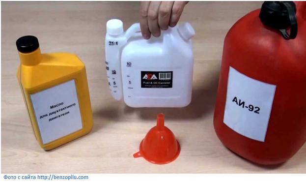 Выбор масла и приготовление топлива для триммера
